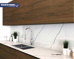 10+ mẫu đá bếp VICOSTONE trắng ĐẸP – HOT nhất 2020